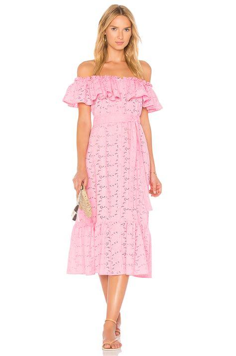 Mira Dress 1 fernandez mira button dress pink eyelet modesens