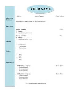 Resume In Word Format by Modern Academic Resume Template