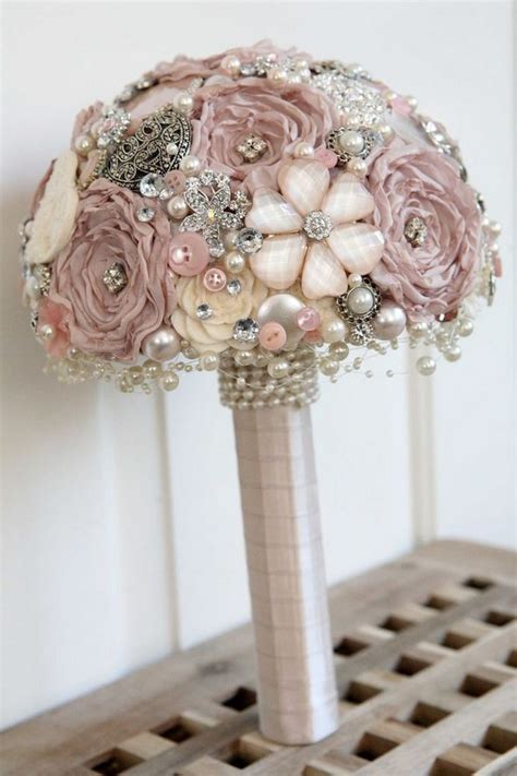 top  vintage wedding brooch bouquet ideas