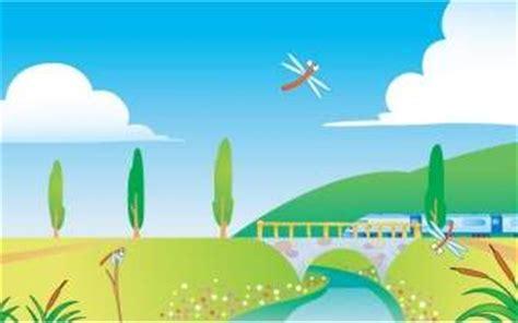 vector wallpaper alam kartun pemandangan alam vector latar belakang vector latar