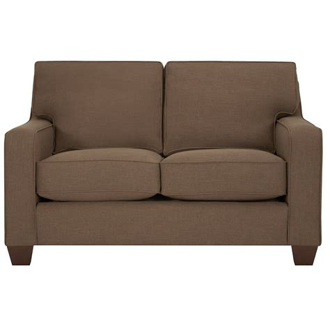 York Upholstery by City Furniture York Dk Brown Fabric Loveseat