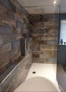 bathroom with wood tile best 25 wooden bathroom ideas on pinterest wooden