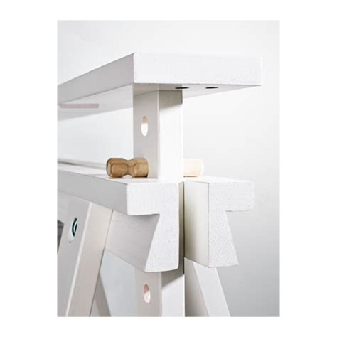 Finnvard Trestle With Shelf by Finnvard Trestle With Shelf White 70x71 93 Cm