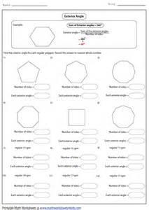 pics for gt regular polygons worksheet