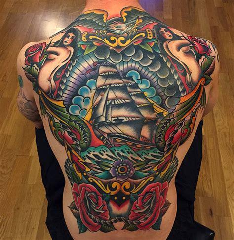 tattoo new school back sailor back tattoo old school inktattoo