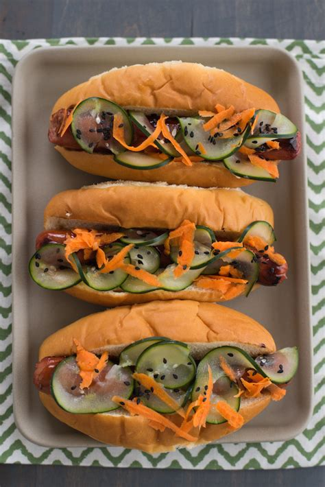 pickled dogs teriyaki dogs with pickled vegetables foxes lemons