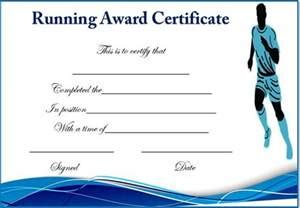 Fun run certificate template certificate street free award running certificate templates 20 free editable word yadclub Image collections