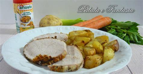 cucinare arrosto di maiale arista di maiale con patate al forno patata e fantasia