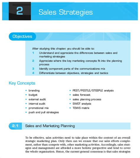 sales strategy template 10 free word pdf documents