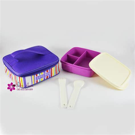 Tas Bekal Set Sekolah lolly tup tempat bekal makan tupperware tas tupperware