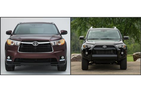 Toyota 4runner Vs Highlander To 2016 Toyota 4runner Vs 2016 Toyota