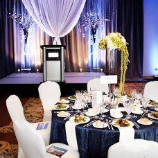 Gala decor idea. Blue & white decor. Moncton, NB.   Work