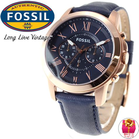 Fossil Fs 4835 Leather Blue Black Grade asr rakuten global market fossil フォッシル grant grant chronograph fs4835