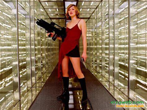 Milla Jovovich Wardrobe by Legs Aniston Wallpaper