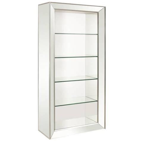 storage furniture mirrored bookcase