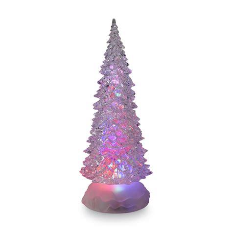 essential home small acrylic led sparkling christmas tree