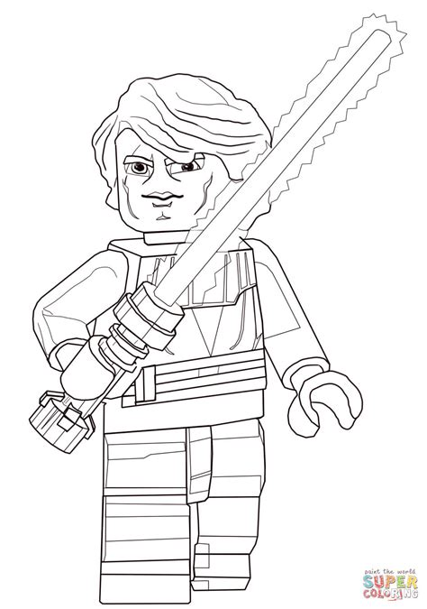 lego coloring pages star wars to print lego star wars anakin skywalker coloring page free