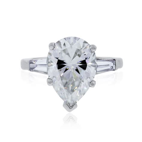 pear shaped rings wedding promise
