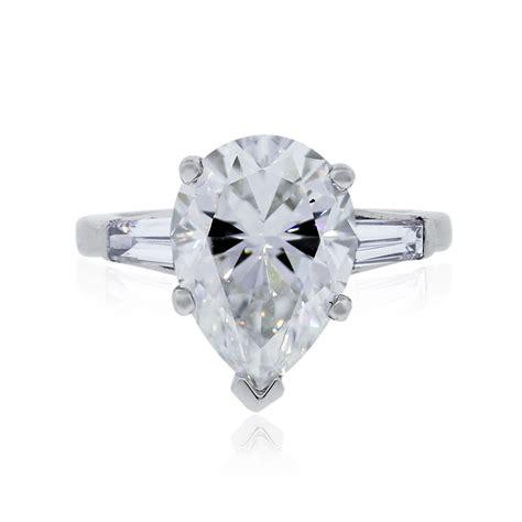 Platinum 5.28ct Pear Shape GIA Certified Diamond