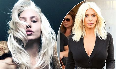 kim kardashian blonde hair daily mail imogen anthony follows kim kardashian and reveals bleach