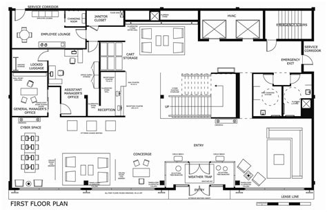 typical boutique hotel lobby floor plan google search