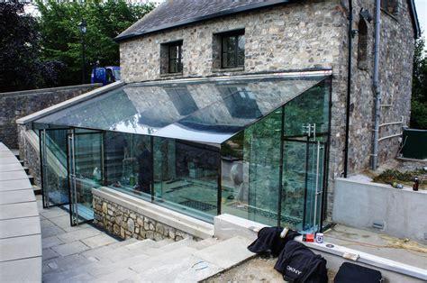 glass box house corntown glamorgan architectural glass clear living