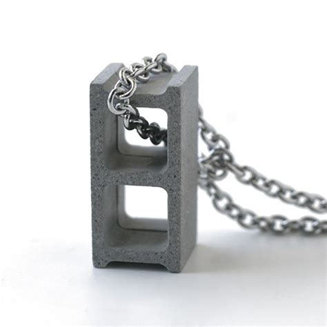 Kitchen Collectables Cement Cinder Block Necklace So That S Cool