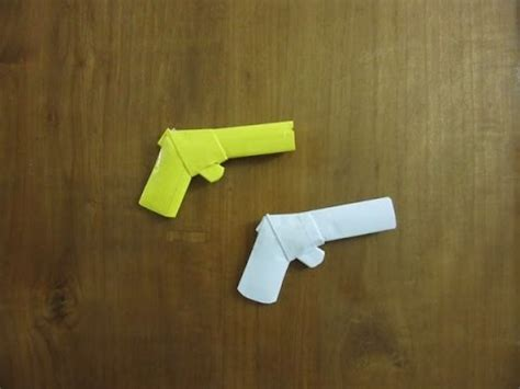 How To Make A Simple Paper Gun - how to make a paper gun that shoots without easy