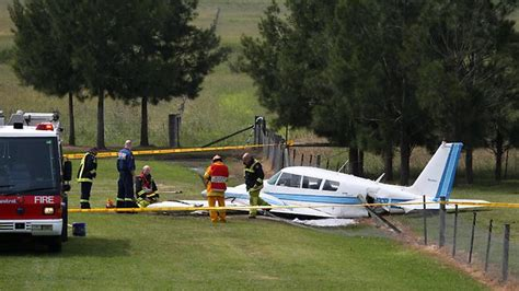 backyard airplane flying instructor crash lands light plane in sydney backyard