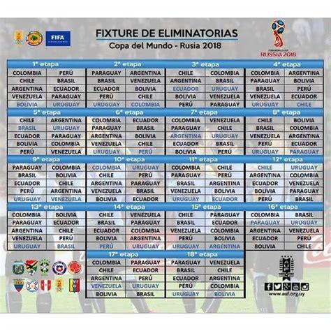 Calendario De La Conmebol Futbol De Locura Calendario De La Conmebol Para Rusia 2018