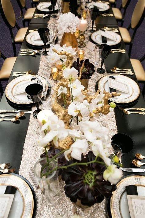 Black and gold tablescape   My wedding ideas   Wedding