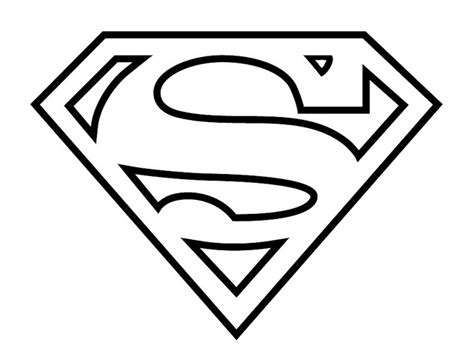 Superman Logo Coloring Page superman logo coloring pages az coloring pages