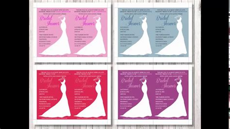 Bridal Shower Invitation Template For Word Youtube Bridal Shower Invitation Templates Microsoft Word