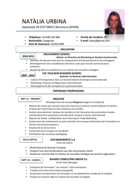 Standard Resume Examples by Cv Fran 231 Ais
