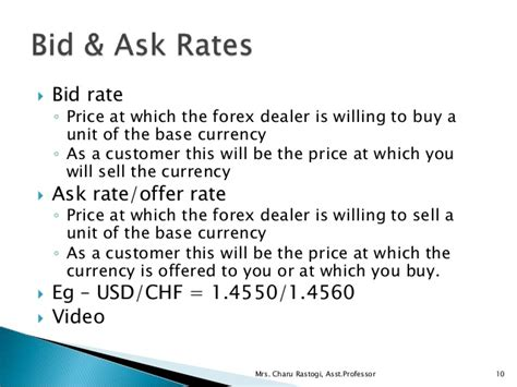 bid rate unit 2 2 exchange rate quotations forex markets