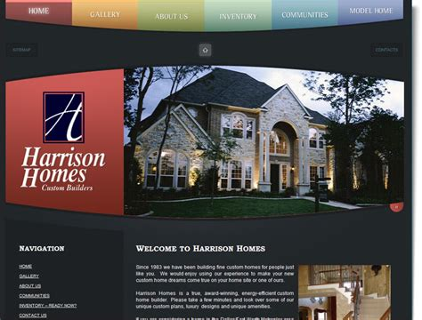 Home Design Inspiration Websites by Construction Website Design For Harrison Homes Your Web