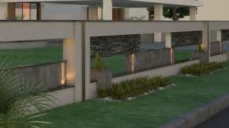 wall l design indian house front boundary wall designs search