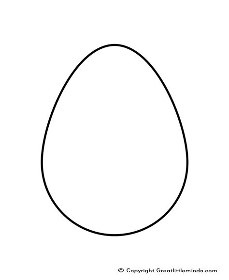 free coloring pages of egg shape