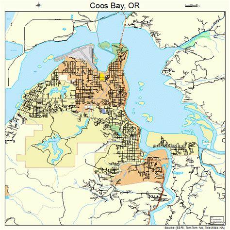map of coos bay oregon coos bay oregon map 4115250