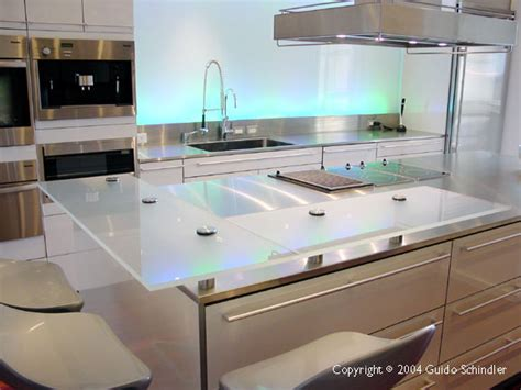 Floating Countertop by Stainless Steel Countertops With Floating Glass Bar