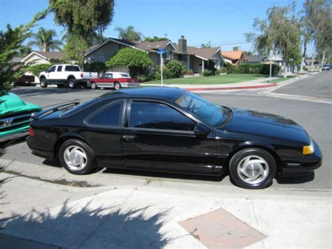 1990 ford thunderbird sc super coupe factory supercharged for sale in seattle washington 1990 ford thunderbird supercoupe black on black factory 3 8 supercharged v 6