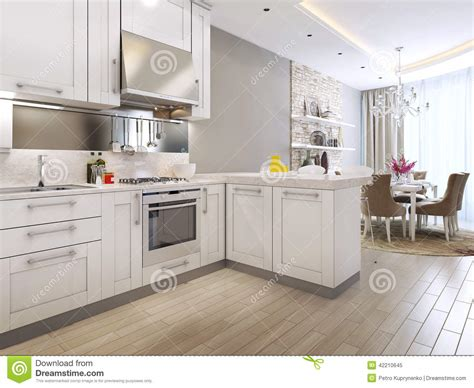wohnzimmer 20 qm schlauch gemütlich einrichten kitchen diner in the neoclassical style stock illustration