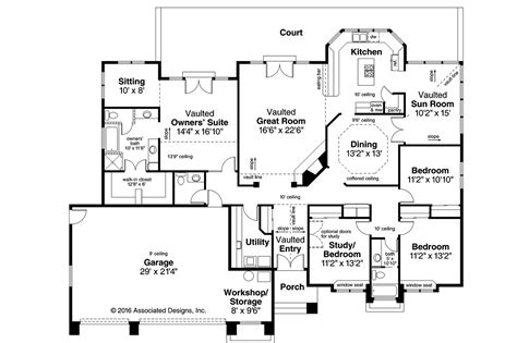 southwest house floor plans southwest house plans cibola 10 202 associated designs
