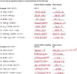 significant figures worksheet with answers worksheets for
