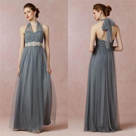 Longdress Softflow mayan blue halter bridesmaid dress soft tulle prom dresses for bridesmaid multi