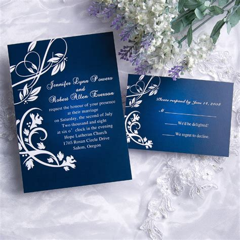 blue and silver wedding invitation ideas royal blue wedding ideas and wedding invitations