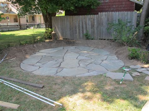 stone patio how to install a flagstone patio with irregular stones