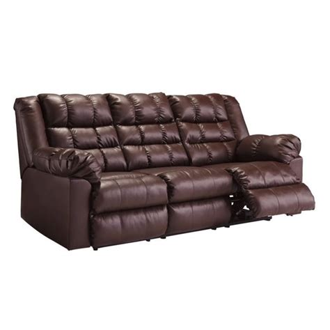 Saddle Sofa by Brolayne Leather Reclining Sofa In Saddle 8320288