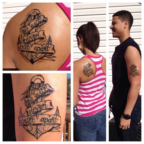 brother n sister tattoos and we will never drift apart
