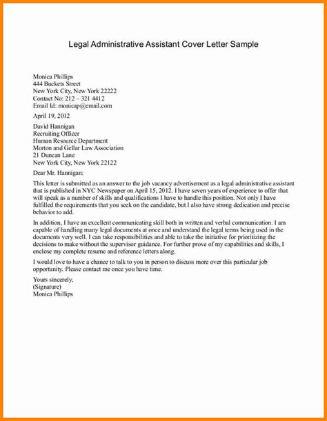 cover letter for professional resume 8 cover letters for administrative assistants mail clerked